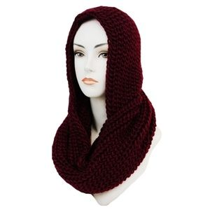 ✨Coming Soon✨ Burgundy Hooded Scarf